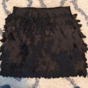 Kardashian Kollection S black feather skirt